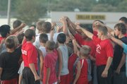 Tonganoxie High played host to a four-day youth football camp this week at the THS practice field.