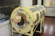 This iron lung, part of the collection to be displayed at Medicine&#39;s Hall of Fame &amp; Museum, was used to keep polio patients alive in the 1950s
