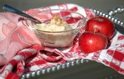 Apple Snow — made with just apples, egg whites and a pinch of sugar — makes a cool, fluffy summer dessert or snack.