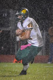 BLHS senior Drew Potter led the Bobcats with 91 yards rushing on Friday at Jefferson West.