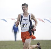 SMNW senior Kirk Bado placed seventh in the boys 6A state cross-country meet on Saturday at Rim Rock Farm in Lawrence.