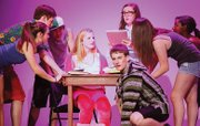 "Kennedy Carter, Alex Vonderschmidt, Noah Hastings, Lauren McDonald, Max Mayerle, Addie Leitch and Chelsea Turner, pictured from left to right, perform in ""Legally Blonde The Musical."""