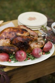 Cider Brined Turkey with Sage Gravy