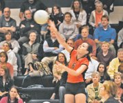 BSHS senior Jene Williams and the Braves volleyball team won the Wyandotte County Tournament earlier this season and finished 16-20 overall.