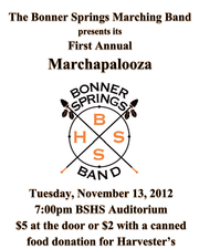 "The ""Marchapalooza"" indoor concert is set for Tuesday evening."