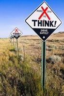"South Dakota ""X Marks the spot"" fatality sign"