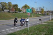 Woodland Drive is one of many Shawnee thoroughfares that include on-street bike lanes for cycling traffic.