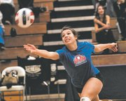BLHS senior Brandi Stahl hustles after the ball during Sunday's all-star game.