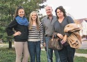 Marinela Koleva, left, a foreign exchange student from Bulgaria, is studying at Mill Valley High School. Her host family members from left are host sister, Brianna Duden, an eighth-grader at Monticello Trails Middle School; host father, Derek Duden; and host mother, Michelle Duden.