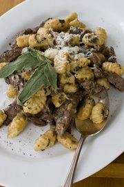 This 15-minute seared bison with sage and gnocchi is an easy, hearty recipe for using bison.