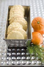 Tangerine-Mace Shortbread cookies.
