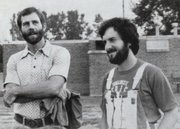 A 1982 yearbook photo of Williams, at left, with fellow teacher Pat Wakeman, who also now is retired.