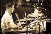 Professional drummer Billy Brimblecom performs this summer at the annual Summerfest music festival in Milwaukee, Wis.