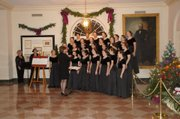 Members of Allegro Con Brio ensemble perform at the White House on Dec. 3.