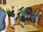 Bret Fritz squatted 510 pounds and was one of five BLHS first-place finishers on Saturday in McLouth.