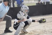 Mill Valley sophomore Lacie Myers has been a catcher almost since the day she and her sister, Lexie, began playing softball at age 8. Lacie Myers can also play in the outfield. Both sisters hope to continue their careers in college on the same team together.