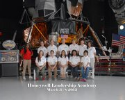 Wyatt Maurer, second from left in the back row, poses with the group of students who were selected to attend the Honeywell Leadership Challenge Academy at the U.S. Space and Rocket Center in Huntsville, Ala.