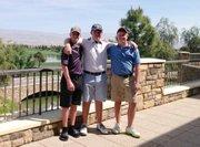 Blake, Garret and Colton Allen make up three-fifths of the SM Northwest boys golf team.