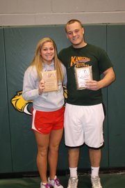 BLHS seniors Jamie Johnson and Drew Potter were recently named the school's senior student-athletes of the year.