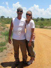 Ryan Beasley and Lisa Buchholz pose together in Uganda.