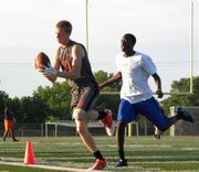Travis Dooley impressed BSHS football coach Lucas Aslin during summer camps and practices, becoming one of the leading receiver candidates for 2013.