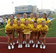 The McLouth High cheer squad was one of eight squads to participate in an all-star camp last week on the Washburn University campus.