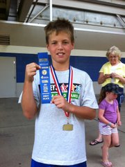 Ethan Staples placed fifth in the 50-meter dash Saturday at the Hershey's National Track and Field Games.