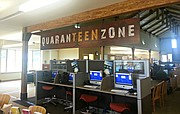 "The new teen area at the Basehor Community Library, originally proposed by the Basehor teen advisory council, will be known as the ""QuaranTeen Zone."""