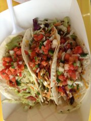 Shawnee-based Crave of KC serves up creative tacos like these by the truck load.