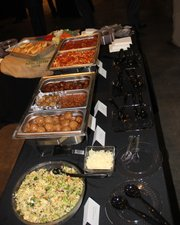 The spread at one of Boyer Artisan Meatballs' recent catered events.