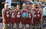 The Tonganoxie High girls cross country team won its home invitational with a team score of 29. Four Chieftains finished in the top 10.
