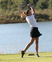 Chandley Easley was one of five sophomores to gain varsity experience on the golf course this fall.