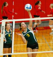 Madi Osterhaus is back next fall as one of Basehor-Linwood's kill leaders.