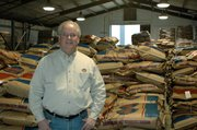 Neal Stubbs, owner, says Valley Feed & Supply Co. produces 15 to 20 tons of its Kawmix Feeds each day.
