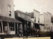 A photo hanging in the Basehor Historical Museum shows what the main business district of Basehor looked like nearly a century ago.