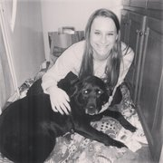 Carissa Mikesic, a senior at BLHS, with Jetta.