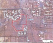 Outlined in red, the 44-acre plot of land that the City of Basehor is hoping to buy sits directly north of the Basehor Community Library and just south of Parallel Road.