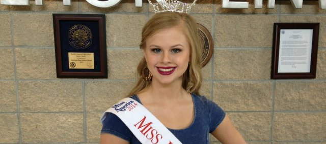 Makayla Weiser, a senior at BLHS, was crowned Miss Leavenworth County in February and will compete in the Miss Kansas pageant in June.
