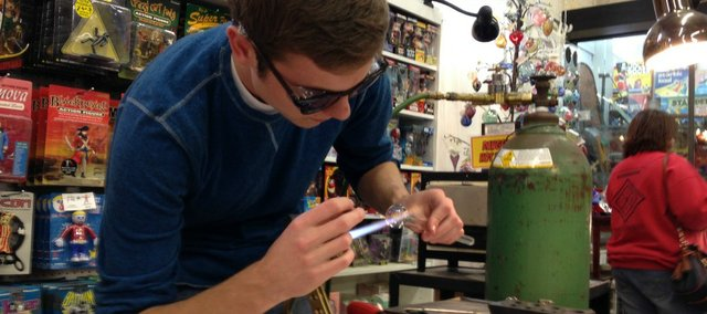 Zachary Batterman, 17, is the youngest artist at this year's Marble Crazy at Moon Marble Co.
