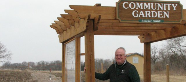 Orville Stokes stands at the BAsehor Community Garden which is set to open on Apr. 26.
