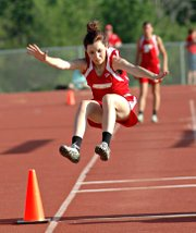 Jackie Whitledge will try for her third straight state bid in the long jump this spring.