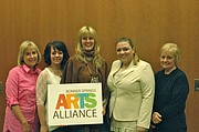 Bonner Springs Arts Alliance board members (from left) Laura Burch, founder and president; Jamie Rempel, event coordinator; Michelle Powell, graphic designer; Kristin Paxton, marketing and promotion; and Anita Shikles, vice president and arts instruction.