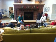 Congresswoman Lynn Jenkins speaks to residents of the Country Place Senior Living center on Thursday.
