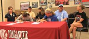 Martin and Soetaert signed with their respective programs Wednesday in the THS Chieftain Room.