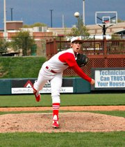 Travis Woods has emerged as one of the Kaw Valley League's top pitchers in his senior season.