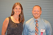 Kim Nelson, Clark Middle School teacher, and Beau Bragg, Bonner Springs Elementary teacher, were chosen from all nominated teachers in the third U.S. congressional district to move on to the final competition for the 2015 Kansas Teacher of the Year Award.