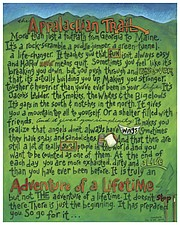 Lawrence artist Joanne Renfro created this poster about her Appalachian Trail hiking adventure.