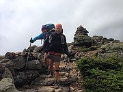 """Lawrence resident Joanne Renfro and a hiking partner who went by the trail name """"Murphy"""" hiked most of the second half of the trail together."""