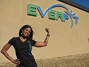 Dawn Rattan poses outside of Everfit, 16200 Midland Road, which is scheduled to open in March.