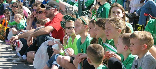 Crowds of families lined Johnson Drive Sunday for the 33rd annual St. Patrick's Day Parade.